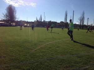 Bestes Fußballwetter am Sonntag in Amsdorf.